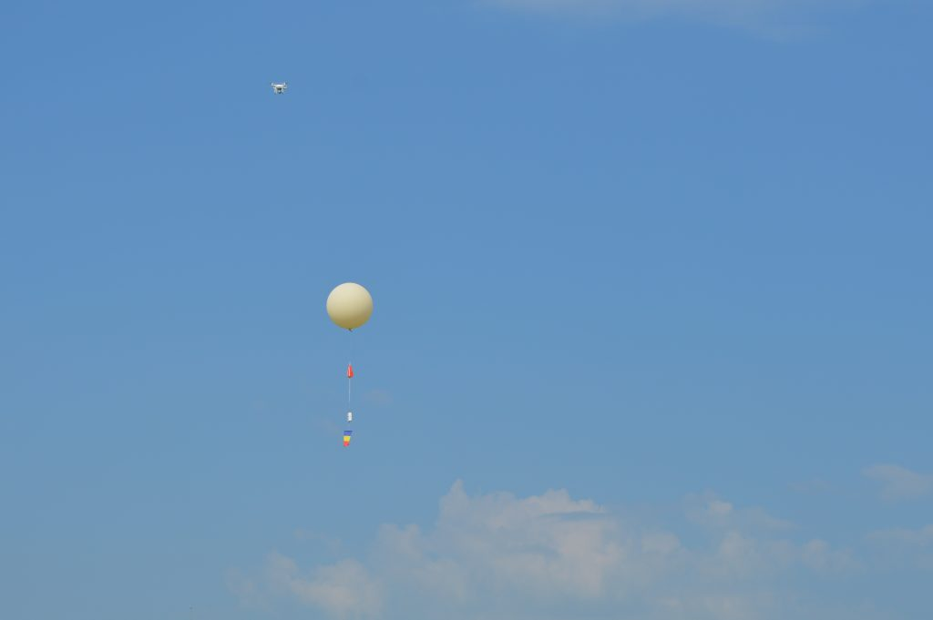 Stratospheric ballon and drone